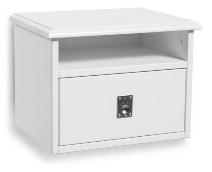 Mavis - Smögen Sengebord Væghængt - Hvid - Sengebord fra Mavis i hvid