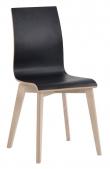 Trend Spisebordsstol - Sort - Sort spisebordsstol med ben i hvidvasket eg