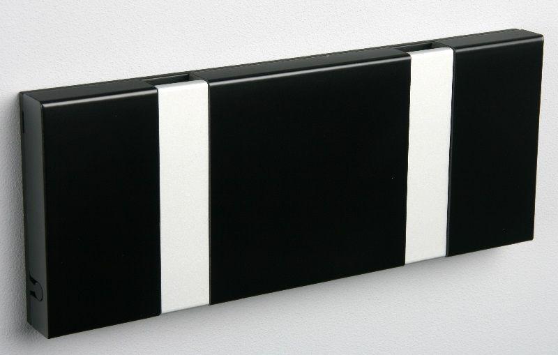 KNAX knagerække - Sort - 2 aluknager - Knagerække med 2 aluminiumsknager