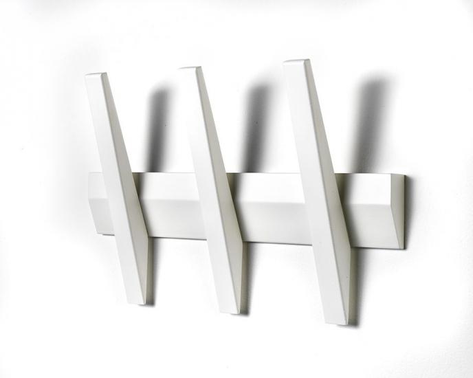 Tangent 3  Knagerække - Hvid - 3 knager i hvid