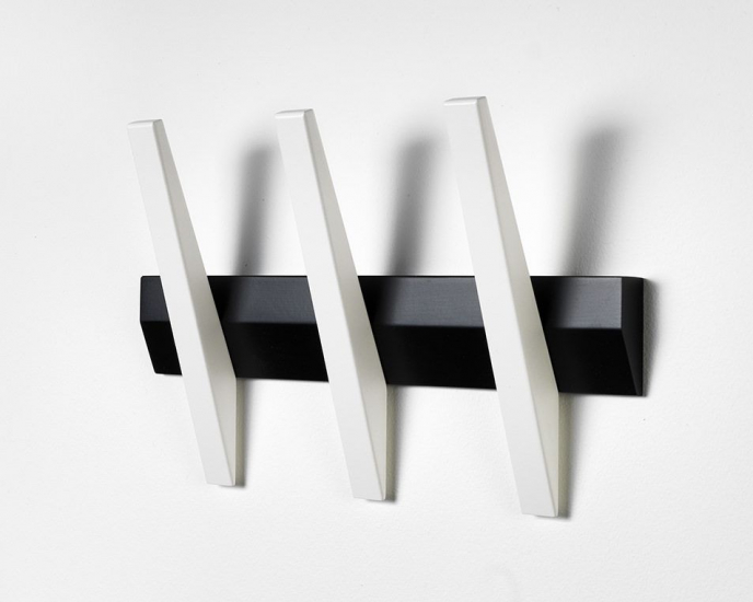 Hoigaard - Tangent 3  Knagerække - Sort/hvid