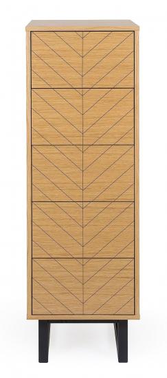 Woodman Camden Kommode - Eg/Herringbone Print