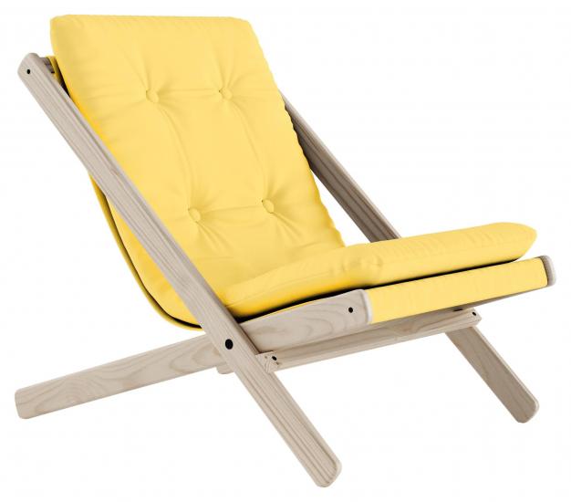Boogie Lounge stol, Gul/Natur