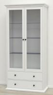 Paris Vitrineskab - Hvid B:96 - Hvidt vitrineskab i romantisk stil