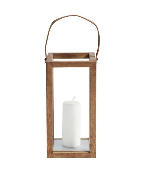 Muubs - Storm Lanterne H32 - Genanvendt teak - Lille lanterne i teak
