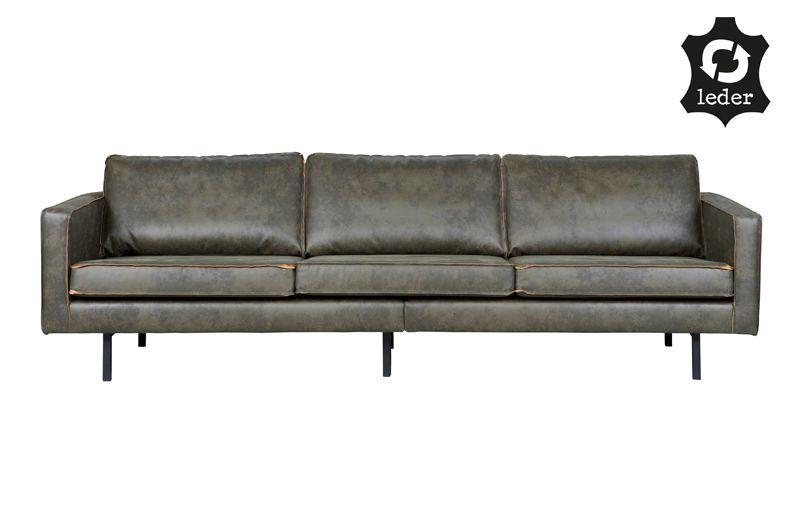 Rodeo 3-pers sofa i øko-læder - Army