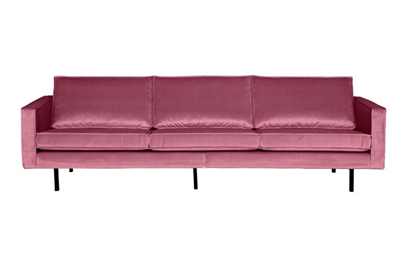 Rodeo 3 pers. sofa velour - Pink