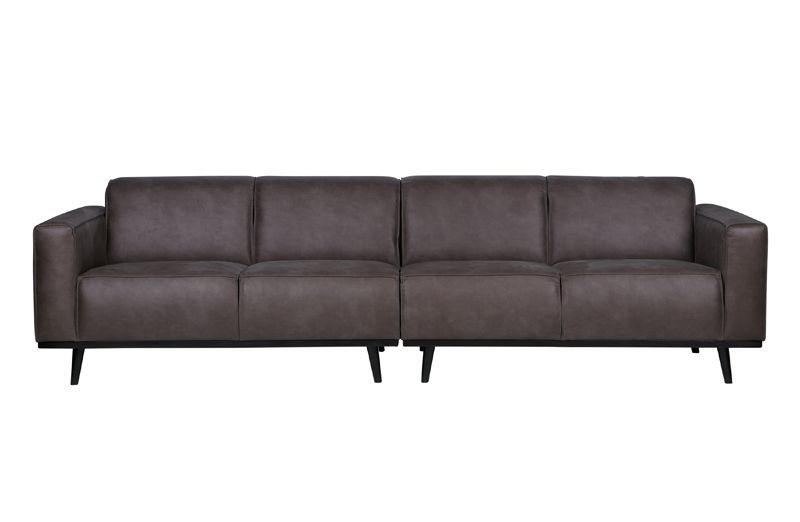 sofa 4 pers Statement Sofa 4 pers. i grå øko læder   Gratis fragt sofa 4 pers