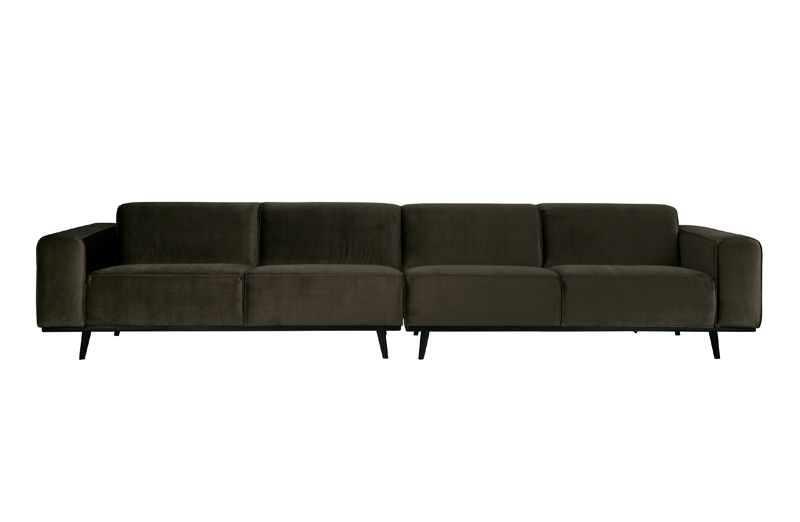 Statement Sofa XL 4-pers. i grøn velour