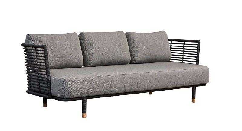 Cane-line - Sense Loungesofa - Sort - Sort loungesofa