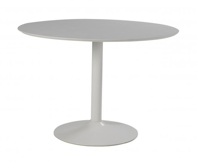 Ibiza Spisebord - Hvid - Rundt spisebord i hvid m. trompetfod