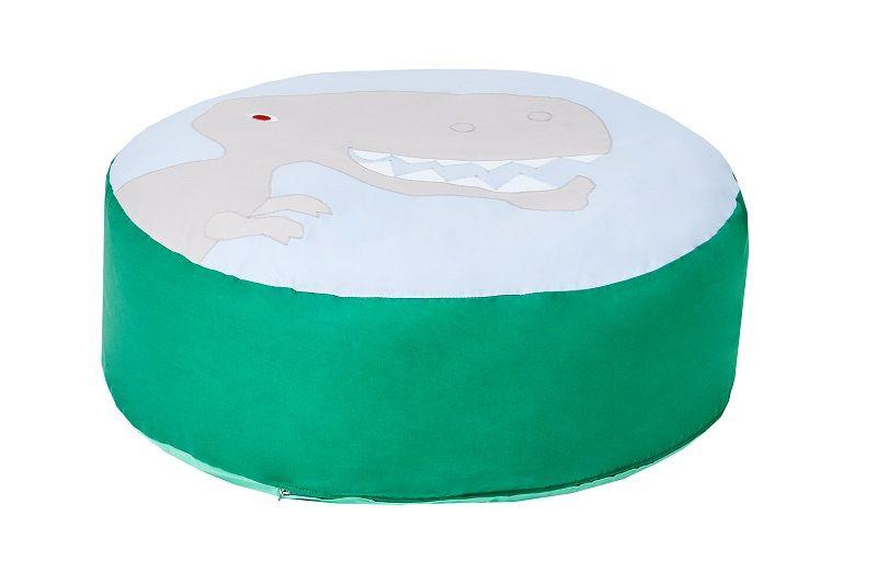 Hoppekids - Dinosaur Sækkestol Ø75 - Grøn og blå