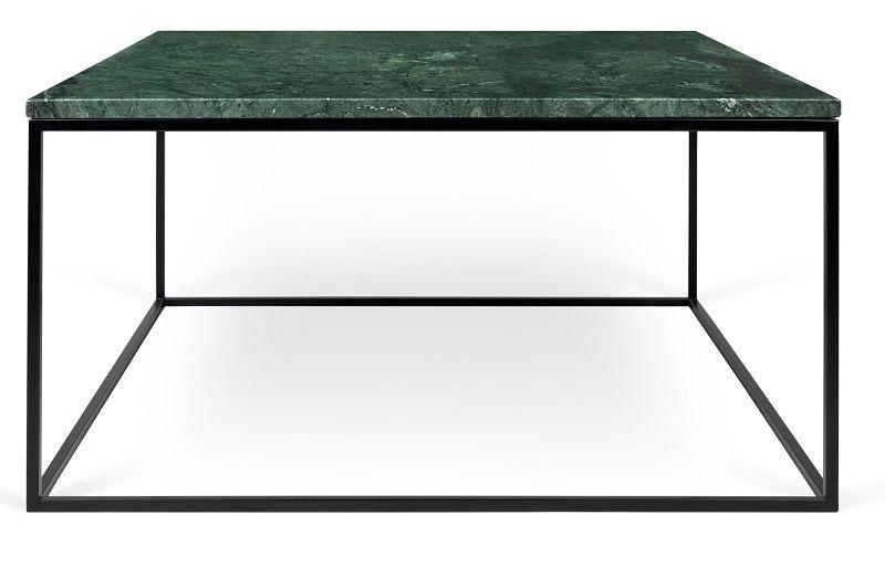 Temahome - Gleam Sofabord - Grøn m/sort stel 75 cm