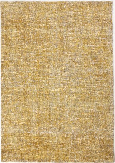 Dundee - Gul/hvid - Tæppe i hvid og gul - 160x230 cm