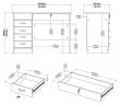 Function Skrivebord - Lystræ m/4 skuffer