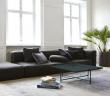 HANDVÄRK - Sofabord 92x92 - Grøn Marmor, sort stel