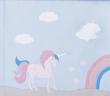 Hoppekids - Unicorn Forhæng 160x70 - Lys blå
