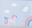 Hoppekids - Unicorn Forhæng 200x90 - Lyseblå