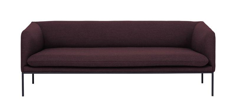 Ferm Living - Turn Sofa 3 Fiord - Solid Bordeaux