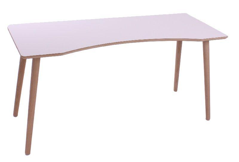 Furnliving Dallas Skrivebord - Hvid - Hvidt skrivebord med bue