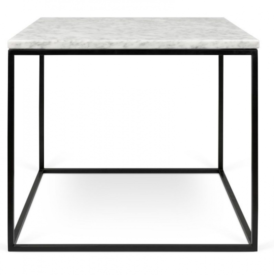 Temahome - Gleam Sidebord - Hvid m/sort stel
