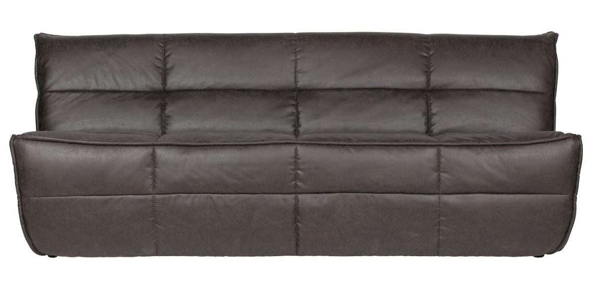 Cluster 3-pers. Sofa - Antracit Kunstlæder