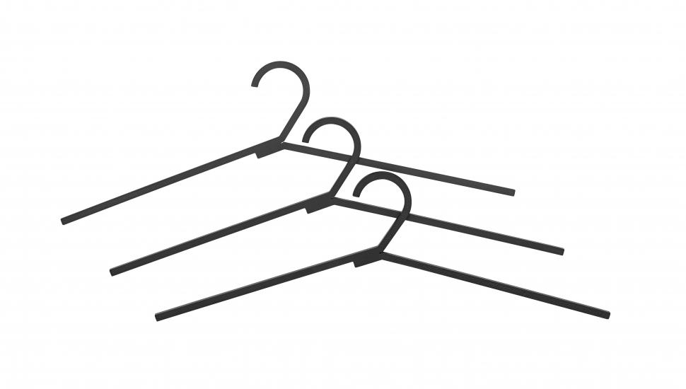 by Lassen - Hangar Bøjler - Sort - Sorte bøjler i stål