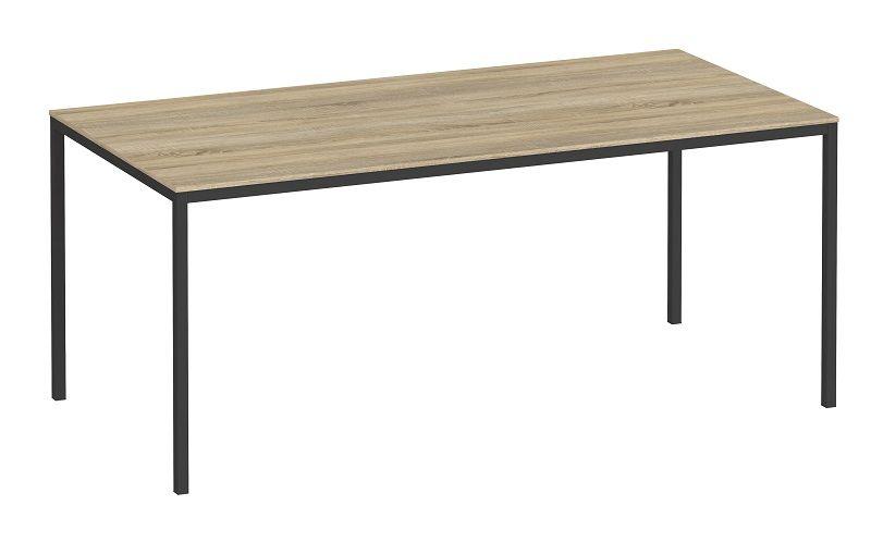 Family Spisebord 180x90 - Sort ramme