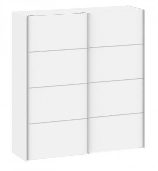 Verona Garderobeskab - Hvid m/skydelåger