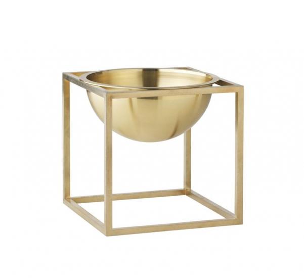 by Lassen - Kubus Bowl 14x14 - Messing - Lille messing bowl
