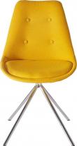 Dylan Spisebordsstol Gult stof med krom ben