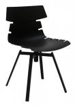 Canett - Idaho Spisebordsstol på drejefod - Mat sort