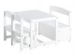 HoppeKids Mathilde Bord/stolesæt - Bænk, bord og 2 stole i hvid