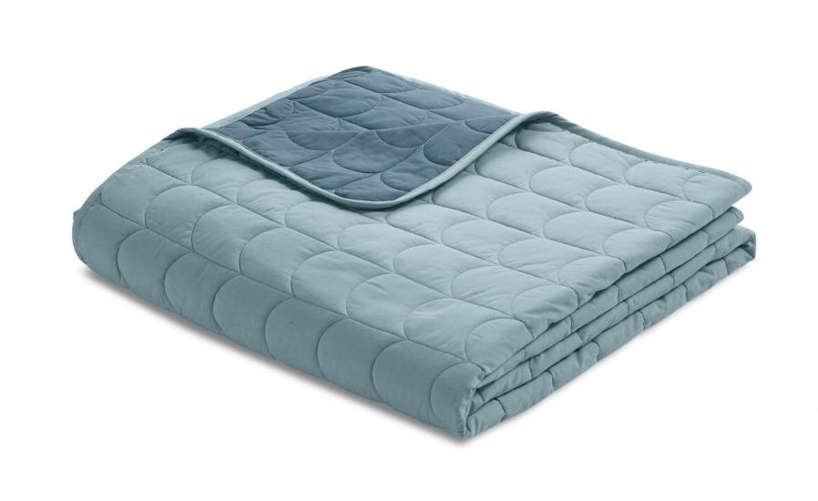 FLEXA Quiltet sengetæppe 230x200cm - Blå