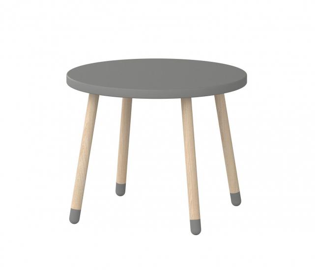 FLEXA Play Børnebord Ø60 - Urban grå - Børnebord med askeben