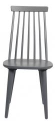 Lotta Spisebordsstol - Mørk Grå lakeret træ