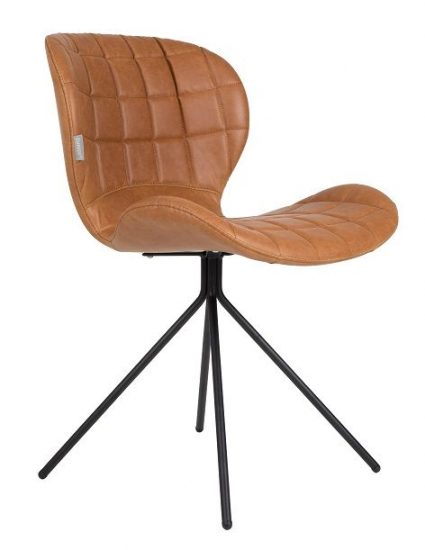 Zuiver OMG Spisebordsstol - Brun PU læder - Spisestol i brunt