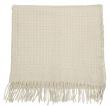 Bloomingville Uldplaid - Hvid plaid i uld 190x135 cm