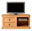 Corona TV-bord - bejdset fyrretræ lys    - Lyst TV-bord med skuffer