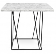 Temahome - Helix Sidebord - Hvid marmor m/sort stel - Hvidt marmorsidebord med sort stålstel
