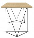 Temahome - Flow Skrivebord - Lys træ m/sort stel