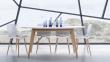 Andersen DK10 Spisebord, Hvid laminat, ege ben