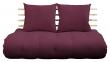 Shin Sano Futon sofa, Bordeaux/Natural