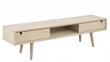 Lustra TV-bord med 2 låger - Hvidpigmenteret