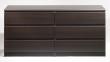 Naia Kommode - Mørkebrun kommode m 6 skuffer
