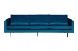Rodeo 3 pers. sofa velour - Blå