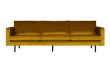Rodeo 3 pers. sofa velour - Okker