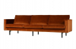 Rodeo 3 pers. sofa velour - Rust