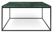 Gleam Sofabord - Grøn - 75 cm - Grønt marmorsofabord med stålstel