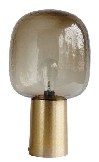 House Doctor Note Bordlampe - Bordlampe m. brunt glas